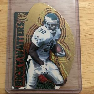 1996 Pacific Invincible Cut Card Ricky Watters